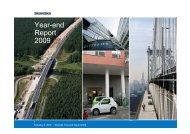 Year-end Report 2009 - Skanska