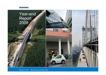 Year-end Report 2009 - Skanska