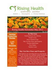 Volume 5, Issue 5 May 2012 - Rising Health Wellness Center