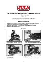 Bruksanvisning för inlines/skridsko - Jula