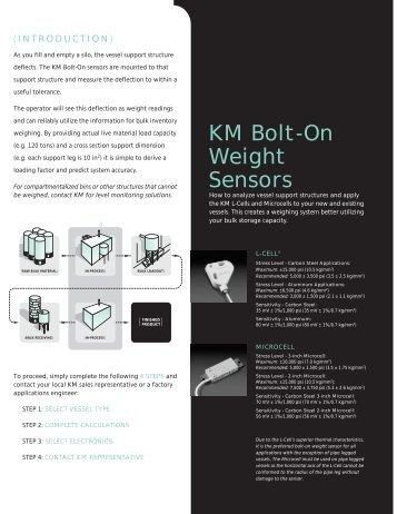 KM Bolt-On Weight Sensors - Kistler-Morse