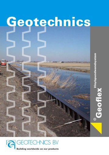 Geoflex Vinylspundwandsystem brochure DU ... - Geotechnics