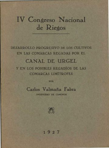 IV Congreso Nacional de Riegos - Sol-Torres