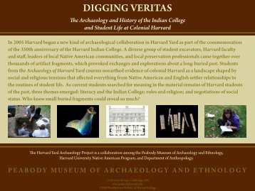 Digging Veritas brochure - Peabody Museum - Harvard University