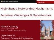 High-Speed Networking Mechanisms