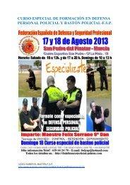 curso especial de formación en defensa personal policial y bastón ...