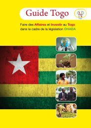 Guide Togo - ACP Business Climate