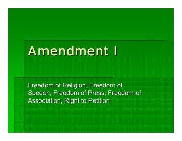 Amendment I.pdf - Oncourse