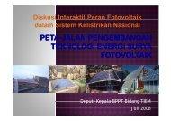 Diskusi Interaktif Peran Fotovoltaik dalam Sistem Kelistrikan Nasional