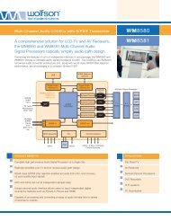 WM8589/81 Product Flyer - Wolfson Microelectronics plc