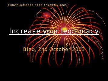 Increase your legitimacy - Eurochambres Academy