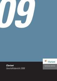 Clariant Geschäftsbericht 2009