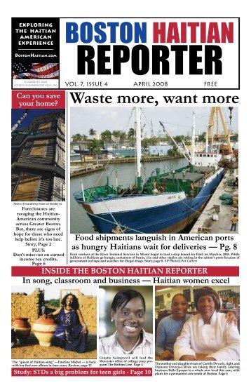 Advantagea magazine of waste more want more boston haitian reporter fandeluxe Choice Image