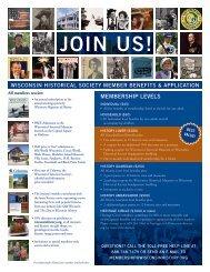 Printable Membership Form - Wisconsin Historical Society