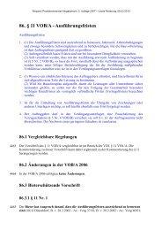 86. § 11 VOB/A - Ausführungsfristen - Oeffentliche Auftraege