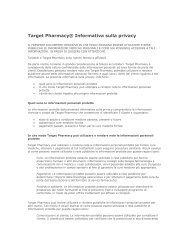 Target Pharmacy® Informativa sulla privacy