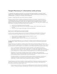 Target Pharmacy® Informativa sulla privacy