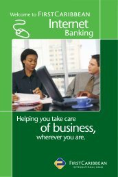 Internet - FirstCaribbean International Bank