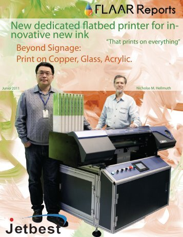 New dedicated flatbed printer for in- novative new ink - large-format ...