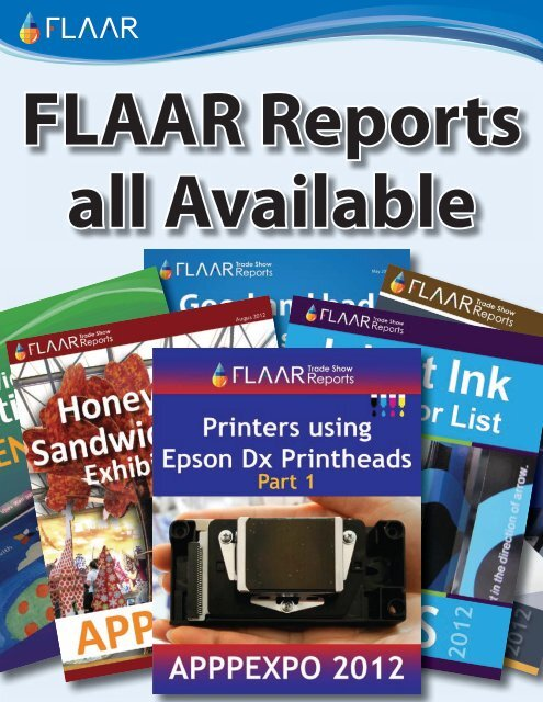 FLAAR-Reports-UV-printers-textile-inks-substrates-al-Available-now ...
