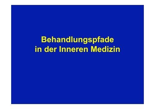 Behandlungspfade in der Inneren Medizin - Vereinigung Zuercher ...