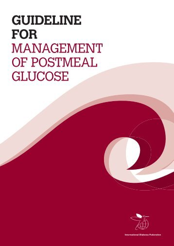 Guideline for ManageMent of PostMeal glucose