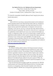 The Multi-Q Web Server for Multiplexed Protein ... - Academia Sinica