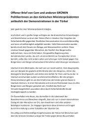 Offener Brief von Cem und anderen GRÜNEN PolitikerInnen an den ...