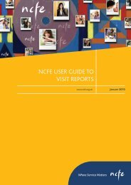 NEW4172 User Guide to Visit Reports - NCFE