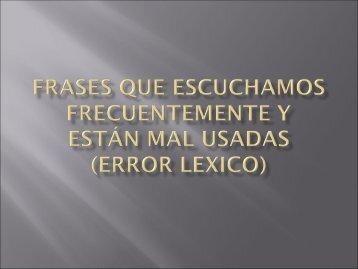 error lexico - Con las palabras...