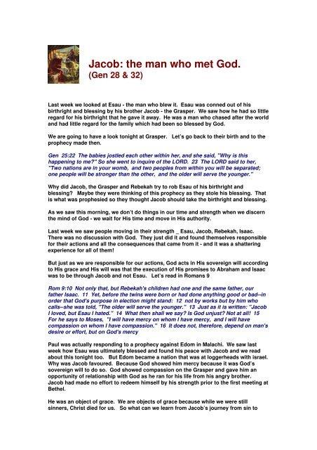 Jacob: the man who met God  - Webministries info