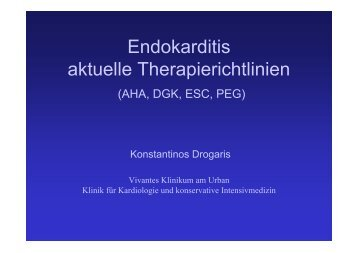 Endokarditis aktuelle Therapierichtlinien - Vivantes