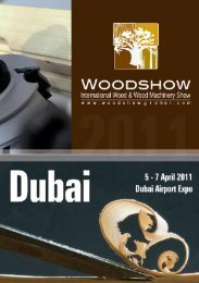A groundbreaking business experience for wood ... - Dubai Woodshow
