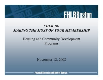 Housing and Community Investment - Federal Home Loan Bank of ...