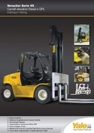 Veracitor Serie VX Carrelli elevatori Diesel e GPL - Lectura SPECS