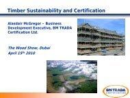 Timber Sustainability and Certification - Dubai Woodshow