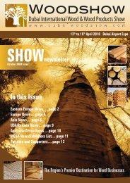In this Issue - Dubai Woodshow