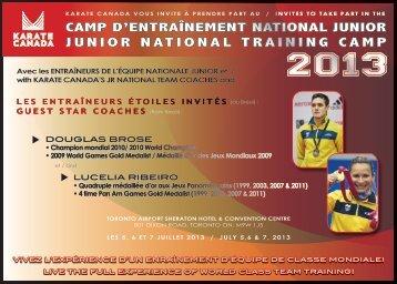 CAMP D'ENTRAÎNEMENT NATIONAL JUNIOR ... - Karate Canada