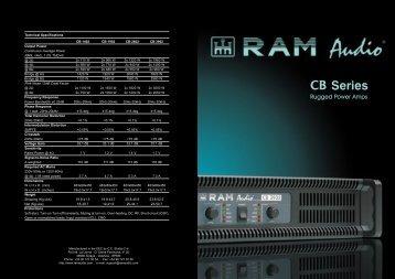 CB Series catalogue - RAM Audio