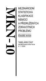 MKN-10 Tabelární část - ÚZIS ČR