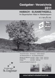 Gastgeber - Verzeichnis - Haibach-Elisabethszell