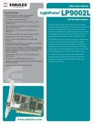Emulex LP9002L Data Sheet - SANDirect.com