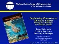 National Academies - University of Michigan