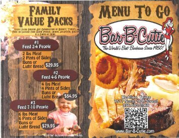 Bar-B-Cutie Menu