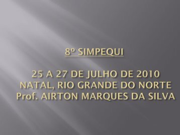 abertura - Associação Brasileira de Química