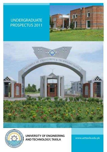 undergraduate prospectus 2011 - University of Engineering and ...