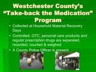 """Take-back the Medication"" Program - Westchester County ..."