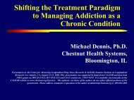 Shifting the Treatment Paradigm to Managing Addiction as a ...