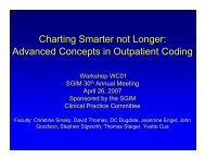 Advanced Concepts in Outpatient Coding - SGIM