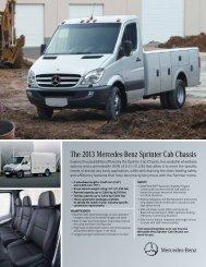 The 2013 Mercedes-Benz Sprinter Cab Chassis - TheSprinter.ca